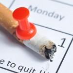 Burnt Cigarette Butt on a Calendar